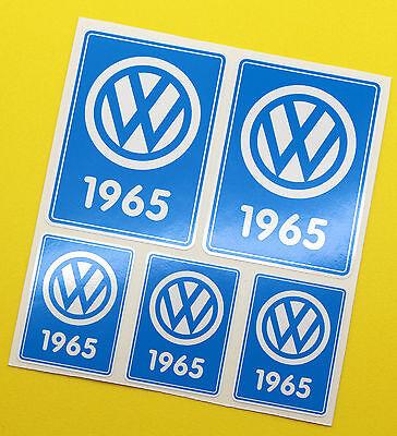 VW 1965 VOLKSWAGEN Year Date stickers INSIDE GLASS BEETLE SPLIT SCREEN CAMPER