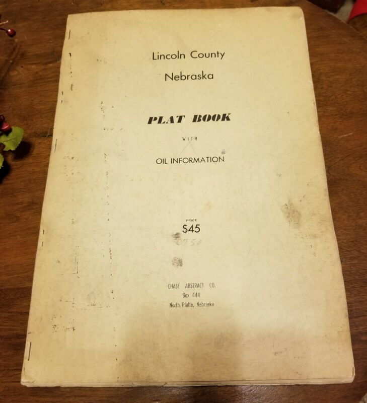 Lincoln County Nebraska Plat Book with Oil Information. 40s to 50s era
