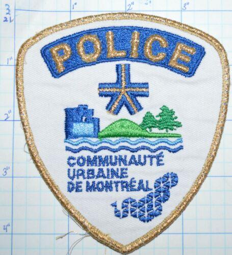 CANADA, MONTREAL POLICE GOLD EDGE COMMUNAUTE URBAINE DE MONTREAL PATCH