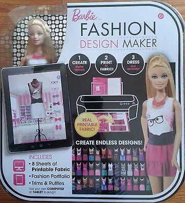 Barbie Fashion Design Maker Doll - NEW in Box - Create, Print & Dress