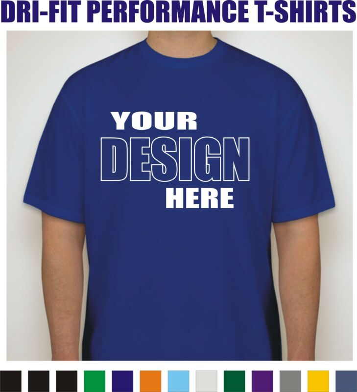 24 Custom Screen Printed Dri-Fit Moisture Wicking Dry T-Shirts - $7.50 each