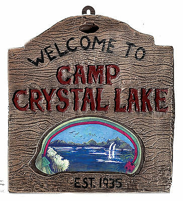 Camp Crystal Lake Sign Jason Prop Friday The 13TH FREE USA SHIPPING 794