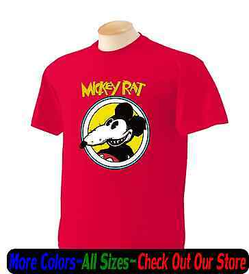 Mickey Rat Funny Parody Mouse Cartoon Retro T Shirt Funny