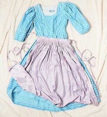 lore Baumwolle Handmade Dirndl Kleid Hellblau XS S 32 34 (Zinn Kleid)