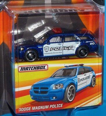 BEST OF MATCHBOX Edition Dodge Magnum Police Car Blue Rubber