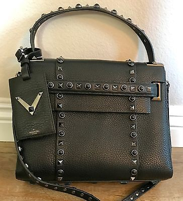 NWT Valentino My Rockstud Small Single Handbag in Black Noir Studs Limited $3775