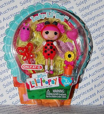 NIP Mini Lalaloopsy LUCKY LIL' BUG Doll & Pet Butterfly 2013 Easter Target