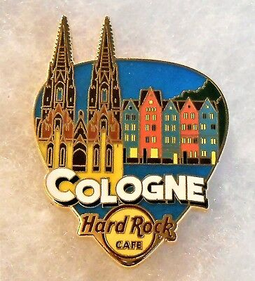 HARD ROCK CAFE COLOGNE GREETINGS FROM GUITAR PICK SERIES PIN # 94955