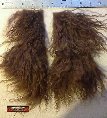 M00704 MOREZMORE Tibetan Lamb Remnants MILK CHOCOLATE Doll Baby Hair Wig NSS