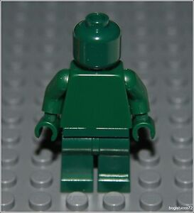 Lego City x1 Plain Dark Green Monochrome Minifigure ★ Head Torso Hands Legs NEW