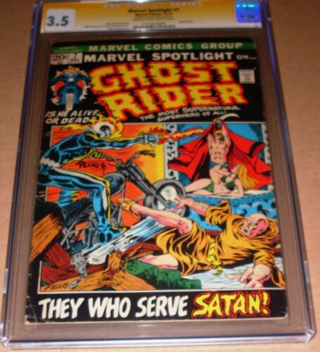 Marvel Spotlight #7 CGC SS SIGNED Mike Ploog Marvel 1972 3rd Ghost Rider Blaze
