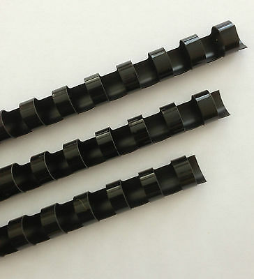 14 Plastic Binding Combs - Black - Set Of 25