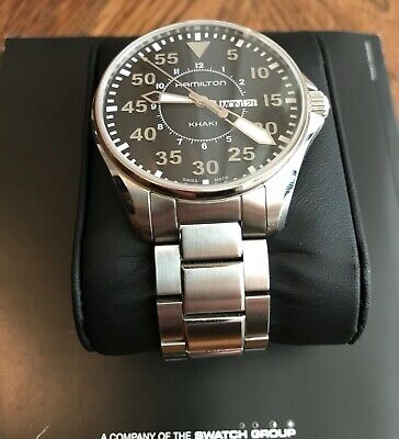 Hamilton H646110 Khaki Aviation Pilot Black Dial Day/Date Men's Watch Quartz