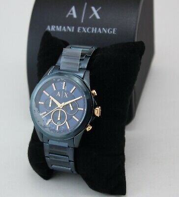 NEW AUTHENTIC ARMANI EXCHANGE DREXLER BLUE IP CHRONOGRAPH MEN'S AX2607 WATCH