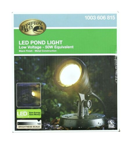 Hampton Bay Pond Light Integrated LED Low Voltage Submersible Outdoor Lighting