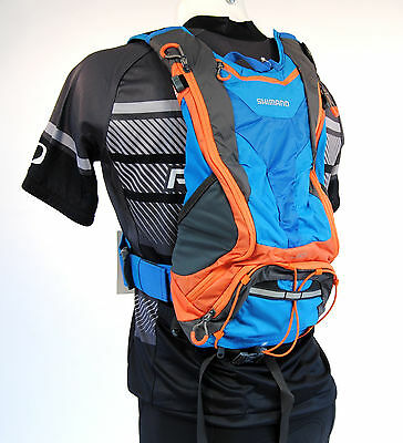 Shimano Unzen U10 Cycling Hydration Pack - Blue/Orange