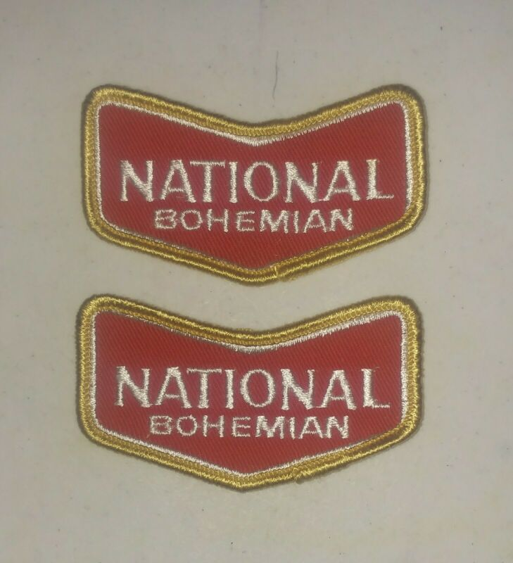 2 vintage National Bohemian Beer Patchs Patch 3 inch
