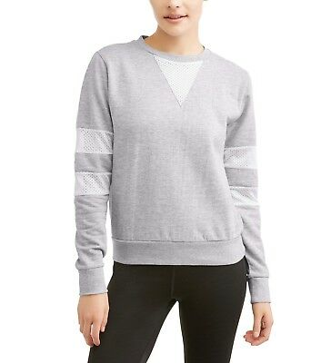 Athletex Thrill Women's Active Fleece Pullover Sweatshirt Sporty Mesh Side Large ()