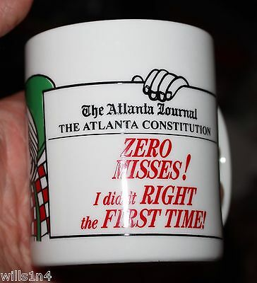 Atlanta Journal Constitution Newspaper Papergirl Rewards Porcelain Coffee Mug