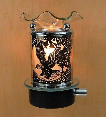 Electric Metal Plug In No Cord  Night Light Tart Burner Oil Warmer Clear Eagle - Electric Plug In Tart Warmer