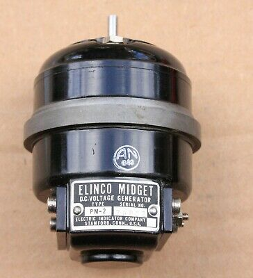 Elinco Midget Permanant Magnet Dc Voltage Generator Type Pm-2 Variable Voltage