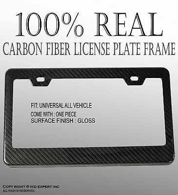 JDM 1 pc Black Carbon Fiber Custom License Plate Snap Frame Auto Car Truck D190