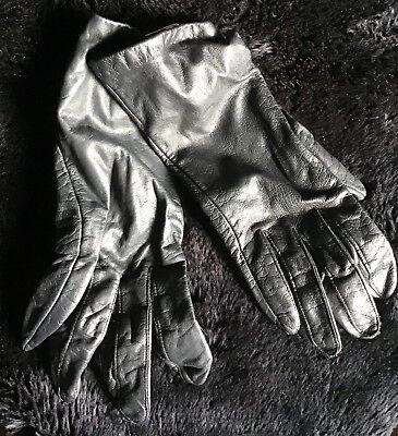 - Vintage Saks Fifth Avenue Black Kid Leather Driving Gloves