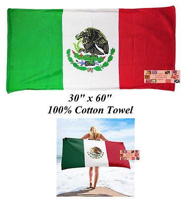 México Mexicano Bandera Grande 76.2x152cmCOTT En Baño Pool Toalla Playa Wrap