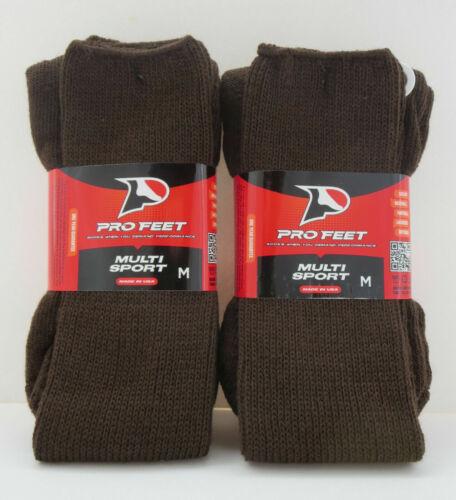 Lot of 2 ProFeet Brown Multi Sport Socks Size 9-11 NEW