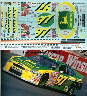 NASCAR DECAL #97 JOHN DEERE 1999 FORD TAURUS CHAD LITTLE SLIXX
