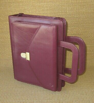 Classic Franklin Coveyquest Burgundy Leather Plannerbinder Cover Attache