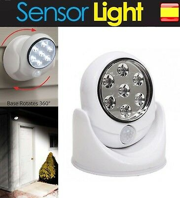 Luz led inalambrica con Sensor Detector de movimiento foco Lampara 360º