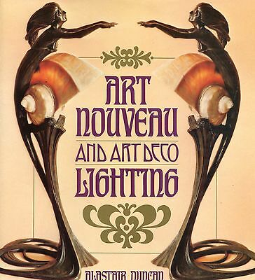 Antique Art Nouveau Deco Lighting Lamps - Types Makers Dates / Scarce Book