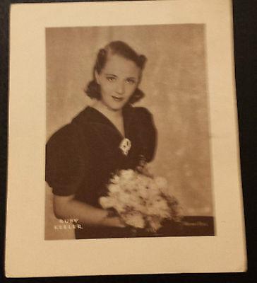 Vintage Sepia Printed Portrait: RUBY KEELER - app.5.5X6 Suitable for Frame