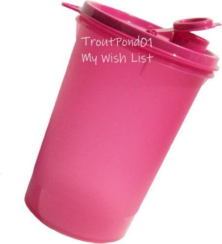 TUPPERWARE Pitcher Mega Tumbler Handolier Beverage Container 32oz Fuchsia Pink