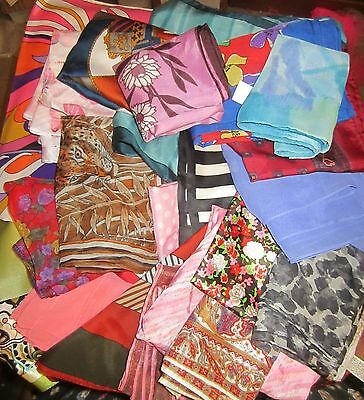 TERRIART Special Lot of 50 Asst LONG Scarves -Vintage