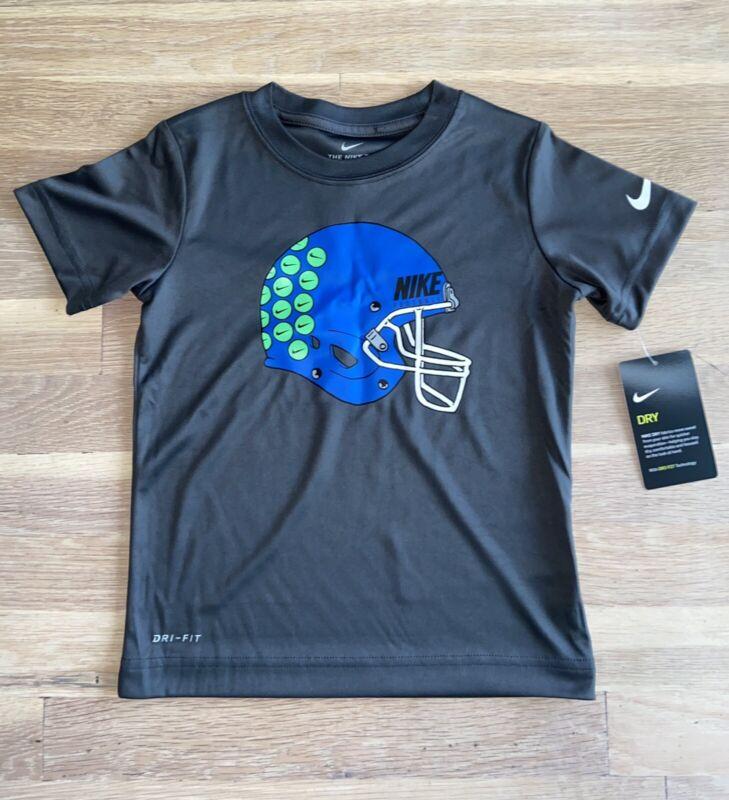 Boys Grey Nike Drifit Football Tshirt Size 4T NWT