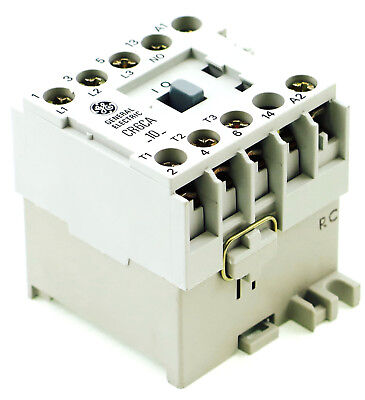 New Ge Miniature Din R.magnetic Contactor Cr6caa 120vac Coil Ca4-5-10-120