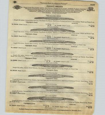 1918 PAPER AD 46 PG Shapleigh Diamond Edge Empire Pocket Knife Knives