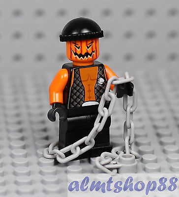 LEGO - Pumpkin Head Crook Evil Minifigure - Halloween Zombie Jack O' Lantern