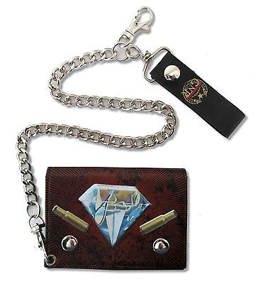 GUNS N ROSES HOW ARE YOU GRENADE DIAMOND LOGOS BLK CHAIN WALLET NEW NWT OFFICIAL