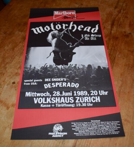 MOTöRHEAD no sleep at all Original SWISS CONCERT POSTER 1989