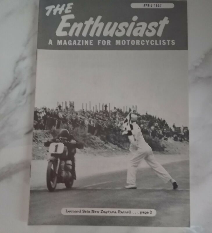 Vintage The Enthusiast Motorcyclists Magazine April 1957 Used