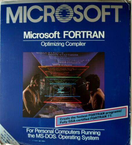 "Microsoft FORTRAN Optimizing Compiler, 5.25"" media, w/ manuals, 005-014V400, V4"