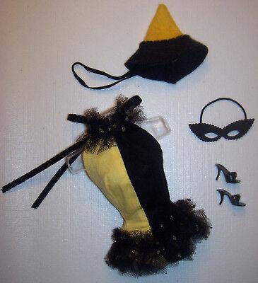 Maskerade Halloween Kostüm #944 Hut Maske Schuhe 1963 (Halloween Barbie Puppe Kostüm)