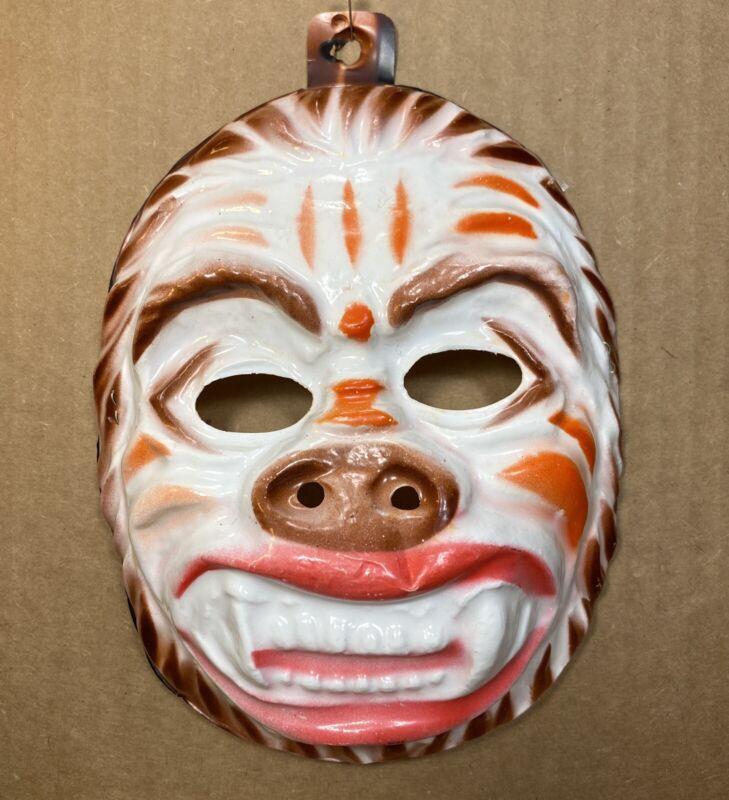 Vintage 1960's Bayshore Ind. Child's Plastic Gorilla Halloween Mask Hong Kong