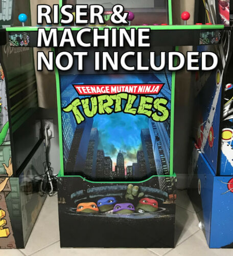 Arcade1up Cabinet Riser Graphics - TMNT Teenage Mutant Ninja Turtles Decal Set