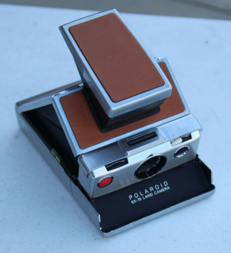 Vintage Polaroid SX-70 Land Camera Folding Instant Film Brown Leather Alpha  1
