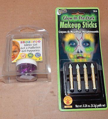 Halloween Makeup Sticks Glow in the Dark & Snazaroo Glitter Gel Fuchsia Pink 42Y (Snazaroo Halloween Makeup)