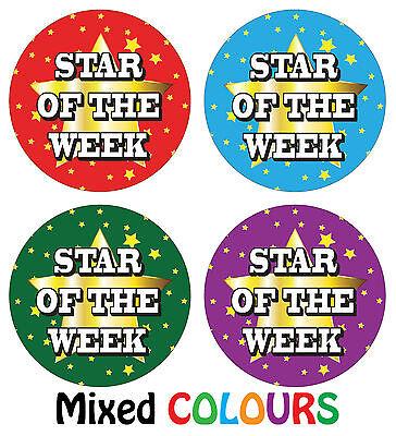 144 x Star of the week Reward Stickers School Teachers Parents Kids - Star Of The Week